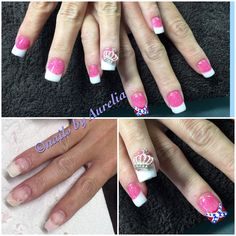 Silk wrapped nails and tips glam girly beauty beautiful nail pink white confederateflag pink white acrylic nail nailart solutioingenieria Image collections