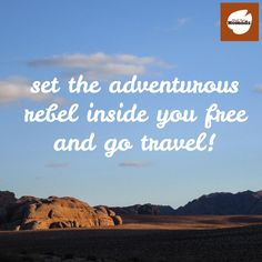 Set the adventurous rebel inside you free and go travel! #traveltuesday