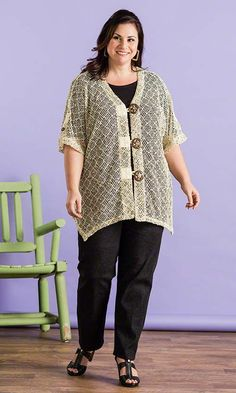 Lattice Summer Jacket / MiB Plus Size Fashion for Women / Summer Fashion / Travel http://www.makingitbig.com/product/5283