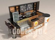Home Decorating Trends 2018 Cafe Shop Design, Kiosk Design, Retail Store Design, Coffee Bar Design, Coffee Shop Bar, Coffee Cafe Interior, Cafe Display, Cafe Counter, Coffee Stands
