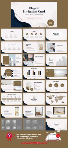 Elegant Invitation Card presentation design – Free Google Slides Theme and PowerPoint Template