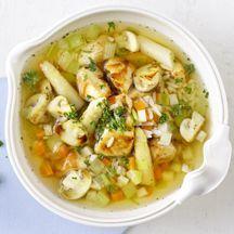 Hühner-Reis-Suppe mit Spargel PP 8