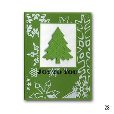 2012 Holiday 28 Snowflake Transparency Tree Card