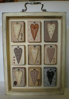 Wooden Heart Shadow Box Frame