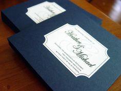 The Diana - Wedding Program - Beautiful Bifold Square Design. $2.45, via Etsy.