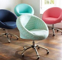 I love these squishy desk chairs!! probably a hundred dollars....from PBTeen