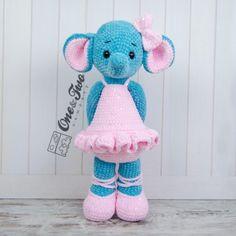 "Emma the Big Elephant ""Big Hugs Series"" Amigurumi Crochet Pattern"