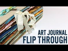 Art journals flip through and how-to expand the book spine -- Vicky is an amazing artist & her art journals are definitely works of art.