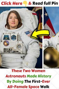 #TheseTwoWomenAstronautsMadeHistoryByDoing #TheFirstEverAllFemaleSpaceWalk Funny Pins, Funny Stuff, Cool Stuff, Cool Pins, Famous Celebrities, Amazing Things, Laugh Out Loud, Fun Facts, Weird