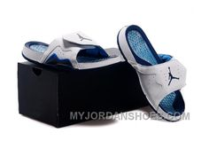 834fbbe0a Jordan Hydro VII Retro 7 Hare Men Sliders White Navy Blue 40-47 DSpxd