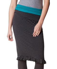 Take a look at this Green Waist Stow Skirt by Hookahey on #zulily today!