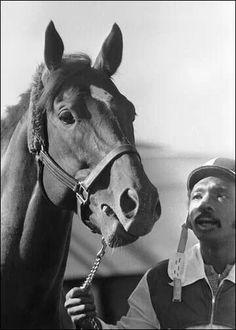 Secretariat and his groom Eddie Sweat