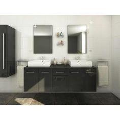 SALLE DE BAIN COMPLETE OLGA Salle de bain complète double vasque 1m50 - L