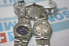 Tissot PR516 series watches. Now for sale at Vintage Watches by SomeTimeAgo. These 3 are the most iconic of the entire range! They really look like a nice family don't they!