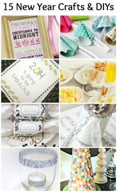 15 easy and quick crafts and DIYs for New Year's Eve and New Year's Day - including some printables!