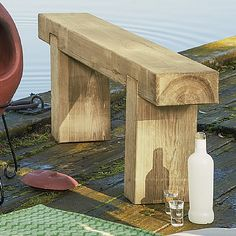 £70 Rustic simplicity, solid sleeper bench made from pressure treated European softwood.