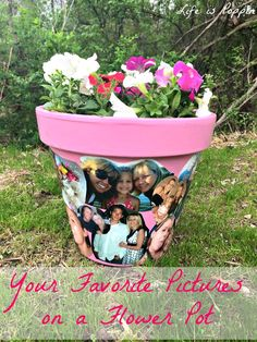 Your Favorite Pictures on a Flower Pot - Craft Idea and DIY