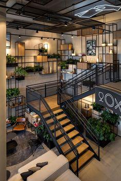 Restaurant Interior Design, Design Hotel, Loft Design, Office Interior Design, Interior And Exterior, Concept Design Interior, Luxury Interior, Industrial Restaurant Design, Pub Interior