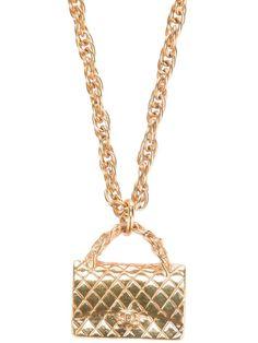 Vintage Chanel bag necklace