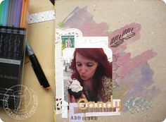 marysza, art, journal, scrapbooking, journaling, candy, addiction, handmade, red, head, ginger