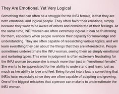 The INFJ Female: Emotional, Yet Very Logical. ☆THIS IS SO ME!☆