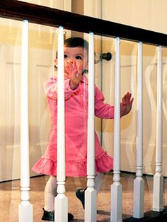 Kid Shield Child Safety Clear Banister Guard 15 Ft X 33 In.