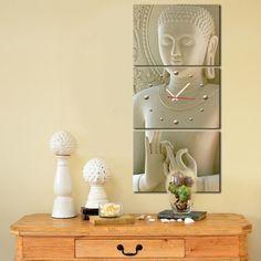 Zen Buddha Canvas Wall Clock