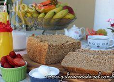 Pão Integral 3 Farinhas na Máquina de Fazer Pão