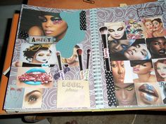 one of my makeup pages from my smashbook!