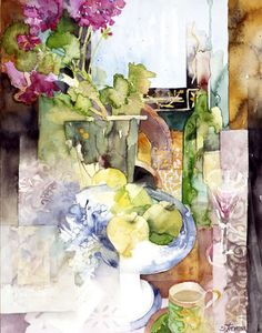 """Shirley Trevena is an awesome watercolor artist from the United Kingdom. I like to think of her as """"no rules"""" Shirley..."""
