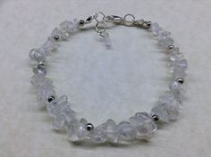 Handmade CLEAR QUARTZ Gemstone Bead BRACELET - CHAKRA Master Healing Energy   eBay