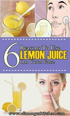 6 Reasons To Use Lemon Juice On Face #beauty #health #howto