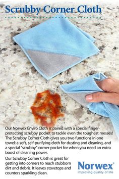 Scrubby Corner Cloth, I love this one! Like the Cadillac of envirocloths http://heidijablonski.norwex.biz
