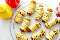 The kids will love these cute little Cocktail #sausage mummies.