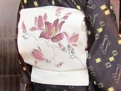 大城カメのティージクンピーマ(拳骨)模様の琉球絣に紫木蓮の染め帯。 の画像 きもの カンタービレ♪