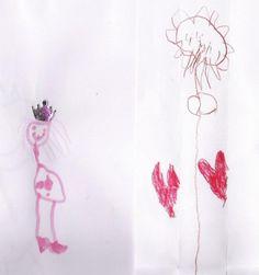 Deze tekeningen zijn gemaakt door mijn grappige, lieve en wijze dochter, zij is 4,5 jaar