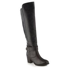 Rocha.John Rocha Black leather mid heeled high leg boots - Mid heel boots - Shoes & boots - Women - Debenhams Mobile