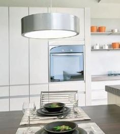 aranżacja wnętrz -  Wykorzystano oprawę Medo 149262   /oświetlenie kuchni/