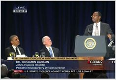 Dr. Ben Carson at the 2013 National Prayer Breakfast. This man articulates my world view better than almost anyone. And, by the reaction/body language of the man on the far left, he is not amused or in agreement. Nuff said...It is 26 minutes long, but riveting.