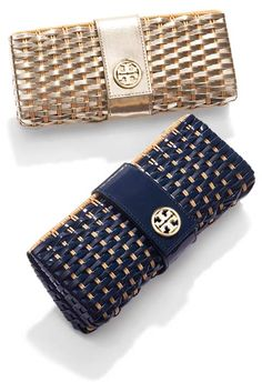 Tory Burch Most Wanted Woven Clutch - the rattan clutch the must have of this summer.