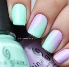 Diagonal ombré .. I like it