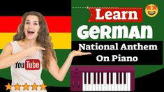 German National Anthem Piano Lesson - Deutscher Nationalhymnen Klavierun... Easy Piano Songs, Free Piano, Learn German, National Anthem, Piano Lessons, My Face Book, Learning, Youtube, Piano Teaching