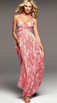 Sexy Maxi Dresses: Crochet, Tee, Multi-Way & Bra Top Maxi Dresses at Victoria's Secret