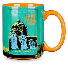 Star Wars Parks Attraction Poster Mug - Endor | Disney Store Like the steam from a piping hot cup of cocoa, three ghostly Jedis shimmer in the early Endor evening. Enjoy your favorite beverage in this <i>Star Wars</i> mug that pays delightful homage to Disney's classic Haunted Mansion attraction.