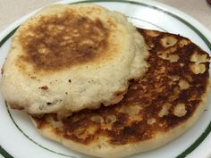 English muffin at Leo's Diner. Grilled, not toasted.
