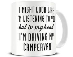 Wohnmobil-Becher - Camper Van Mug - Campervan-Geschenke - In meinem Kopf ich fahre mein Campervan-Tasse - MG510