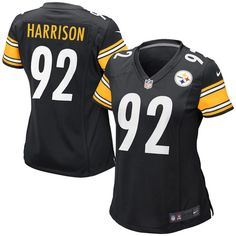 Nike James Harrison Pittsburgh Steelers Women's Game Jersey – Black