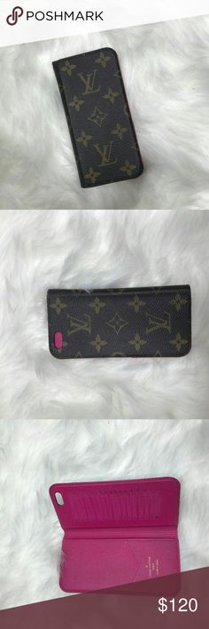louis vuitton iphone6/6S case used a few times, needs new sticky back wear. Accessories Phone Cases