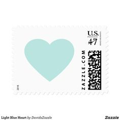 Light Blue Heart Stamp  Available in three rates and three sizes! Also available in many colors! Thanks for looking!  @zazzle #stamp #postage #heart #valentines #day #holiday #send #letter #invitation #love #feeling #emotion #fun #sweet #nice #joy #peace #happy #shape #design #orange #blue #green #yellow #purple #buy #shop #sale #mail #mailing #friend #family #greeting