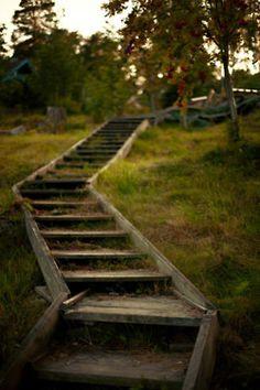 Garden Steps, Garden Paths, Garden Bridge, Outdoor Stairs, Stairway To Heaven, Scandinavian Modern, Plein Air, Pathways, Stairways